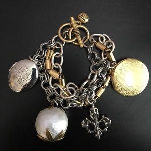John Wind Silver and Gold Charm Bracelet